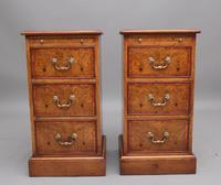 Pair of Mid 20th Century Burr Oak Bedside Chests (5 of 11)