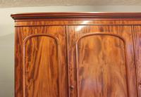 Antique Victorian Mahogany Triple Door Wardrobe (10 of 21)