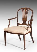 Pair of George III Period Mahogany Elbow Chairs by Robert Manwaring (3 of 7)