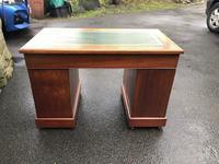 Antique Walnut Pedestal Writing Desk (pri) (9 of 10)