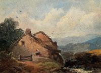 Joseph Horlor Small Original 19th Century Welsh Landscape Oil Painting (9 of 12)