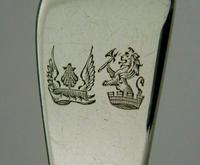 Rare Double Crest Wildman Tracy Families Solid Sterling Silver Fish Slice 1833 (5 of 10)