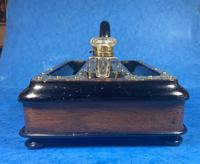 Victorian Brassbound Walnut Inkstand (3 of 16)
