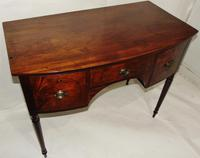 Georgian Mahogany Bow Fronted Dressing Table (8 of 8)