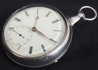 Antique Silver Pair Case Pocket Watch Fusee Escapement Key Wind Enamel Dial John Bernard London Liverpool (9 of 12)