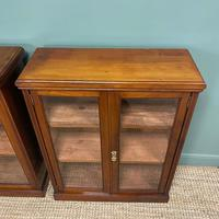 Pair of Victorian Walnut Antique Bookcases (7 of 7)