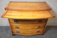Yew Wood Bow Front Chest of Drawers / Reprodux Bevan Funnel (6 of 10)