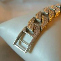 "Vintage Sterling Silver Gentlemans ID Bracelet 66.7 Grams 8 3/4"" Length (11 of 12)"