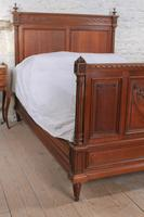 Carved Oak French Gentleman's Double Bed (4 of 10)