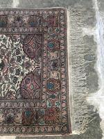 Antique Mughal Kashmir Wool Carpet (2 of 8)