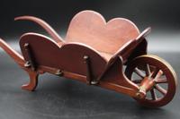 Charming Early 20th Century Mahogany Child's Wheelbarrow (3 of 5)