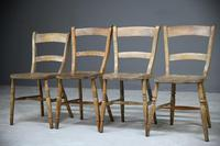 4 Rustic Elm Country Kitchen Chairs (4 of 14)