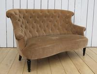 Antique French Napoleon III Button Back Sofa (6 of 9)