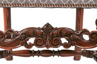 Antique Walnut Carved Dining Table & Set of 8 Carved Dining Chairs (4 of 8)