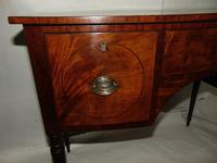 Georgian Mahogany Bow Fronted Dressing Table (3 of 8)