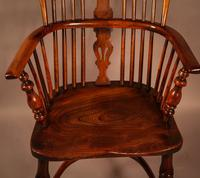 Yew Wood High Back Windsor Chair Rockley Made (4 of 9)