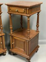 Pair of French Walnut Bedside Cabinets (7 of 8)