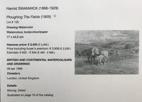 Ploughing the Fields - Downland Watercolour by Harold Swanwick 1905 (3 of 5)