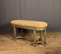 French Giltwood Tapestry Upholstered Window Seat (5 of 10)