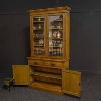 Edwardian Oak Bookcase (2 of 6)