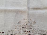 2 Small Pieces of Antique European Linen, Italian Figural Reticella + 2nd in Madeira work. (6 of 7)