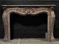 Important French Louis XV Marble Fireplace (8 of 13)