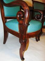 Pair French Empire mahogany elbow chairs (8 of 9)