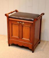 Edwardian Walnut Piano Stool (7 of 9)