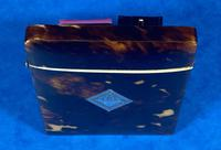 Victorian Tortoiseshell Card Case With Silver Inlay (7 of 13)