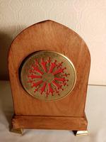 Inlaid Light Mahogany Lancet-top Mantel Clock (6 of 7)