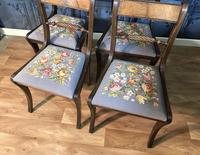 Set of Four Regency Style Dining Chairs by Gill & Reigate (8 of 12)