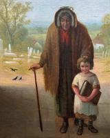 'Sunday Morning' An Enchanting Original 19thc Portrait Oil Painting' (4 of 14)