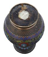 Late 19th Century quality Chinese bronze cloisonne vase (5 of 7)