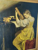 'The Lute Player' 20th Century Oil on Canvas (5 of 7)