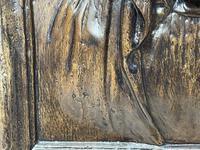 Pair of Antique Belgium Ecclesiatical Mary & Jesus Wall Plaster Plaque Sculptures (11 of 18)