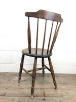 Set of Four Victorian Elm Penny Chairs (M-1317) (11 of 11)