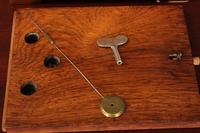 French Brass Inlaid Rosewood Mantle Clock (10 of 14)