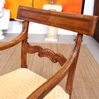 Armchair Fruitwood Desk Library Chair 19th Century Victorian Carved (7 of 11)