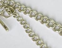 Antique Silver Watch Chain & Football Fob (4 of 4)