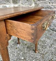 18th Century Georgian Oak Pad Foot Side Table (3 of 15)