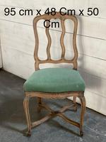 Set of 10 French Bleached Oak Farmhouse Dining Chairs (11 of 16)