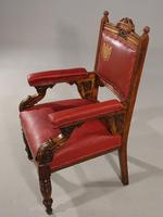 Finely Carved Late 19th Century Civic Armchair (7 of 8)
