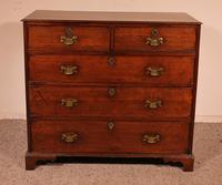 18th century Georgian chest of drawers in oak from England (3 of 8)