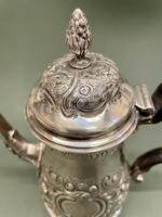 Superb Mid 18th Century Solid Silver Coffee Pot by Robert Arbin Cox (5 of 5)