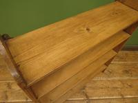 Antique Pine Display Shelves, small open kitchen shelves (8 of 13)