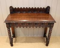 Carved Dark Oak Hall Table