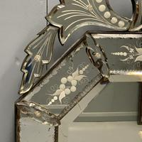 19th Century Cut & Etch Venetian Mirror (5 of 10)