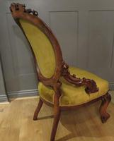 Carved Walnut Armchair New Upholstery fully restored (6 of 9)