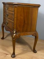 Shaped Walnut Three Drawer Table - Waring & Gillow (11 of 12)