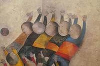 """Original Framed 1970s Print """"Ballon Players"""" by Graciela Rodo Boulanger (3 of 7)"""